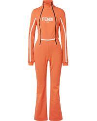 Fendi - Roma Printed Ski Suit - Lyst