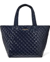 MZ Wallace - Metro Leather-trimmed Quilted Vinyl Tote - Lyst