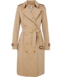 Burberry - The Kensington Long Cotton-gabardine Trench Coat - Lyst