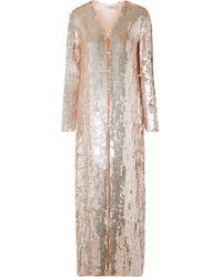 Temperley London - Bardot Sequined Chiffon Coat - Lyst