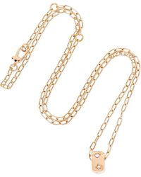 Pomellato - 18-karat Rose Gold Diamond Necklace - Lyst