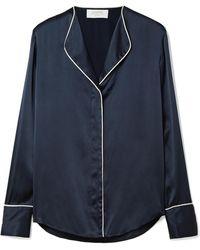 La Ligne - Bonne Nuit Silk-satin Shirt - Lyst