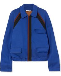 Marni - Striped Cotton-blend Jersey Jacket - Lyst
