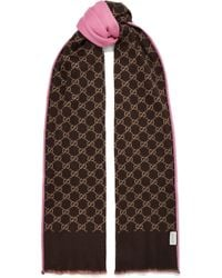 Gucci - Reversible Intarsia Wool And Silk-blend Scarf - Lyst