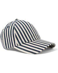 Rag & Bone - Marilyn Striped Denim Baseball Cap - Lyst