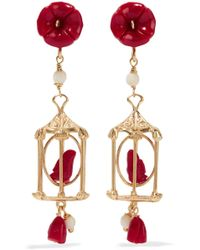Of Rare Origin - Pagoda Gold Vermeil Multi-stone Earrings - Lyst