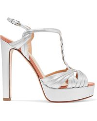 0f4b841f0ef6 Lyst - Charlotte Olympia Parasol Embroidered Satin And Suede ...