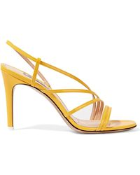 Attico - Baby Patent-leather Slingback Sandals - Lyst