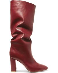 Gianvito Rossi - Laura 85 Leather Knee Boots - Lyst