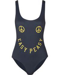 Ganni | Printed Swimsuit | Lyst