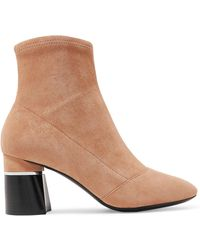 3.1 Phillip Lim - Drum Suede Ankle Boots - Lyst