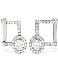 Messika - Glam'azone 18-karat White Gold Diamond Earrings - Lyst