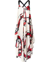 By Malene Birger - Manoelah Asymmetric Printed Crepe De Chine Maxi Dress - Lyst