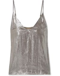 Cami NYC - The Olivia Silk-blend Lamé Camisole - Lyst