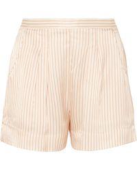 Eres - Riga Frutti Striped Silk-seersucker Pajama Shorts - Lyst