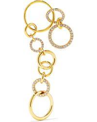 Gaelle Khouri - Nous 18-karat Gold Diamond Earring Gold One Size - Lyst