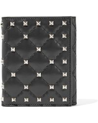 Valentino - Garavani The Rockstud Spike Quilted Leather Wallet - Lyst
