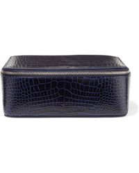 4f18cfbd549e Lyst - Smythson Grosvenor Textured-leather Jewelry Box in Gray