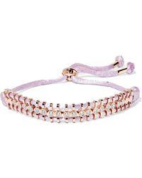 Jemma Wynne | 18-karat Rose Gold, Diamond And Cord Bracelet | Lyst