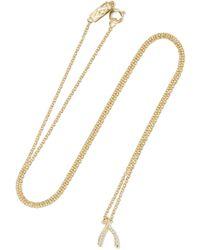 Jennifer Meyer - Wishbone 18-karat Gold Diamond Necklace - Lyst
