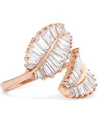 Anita Ko - Palm Leaf 18-karat Rose Gold Diamond Ring - Lyst