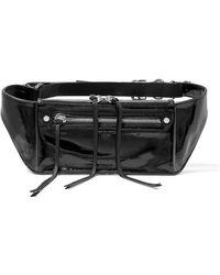 Rag & Bone - Ellis Textured Patent-leather Belt Bag - Lyst