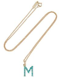 Jennifer Meyer - Letter 18-karat Gold Diamond Necklace - Lyst