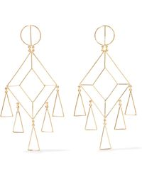 Mercedes Salazar - Gold-plated Earrings - Lyst