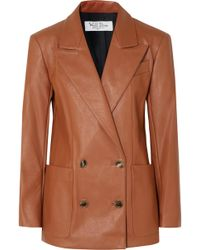 we11done - Double-breasted Faux Leather Blazer - Lyst