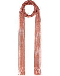 Chloé - Metallic Fringed Crochet-knit Scarf - Lyst