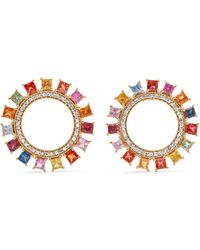 Ileana Makri - Sun 18-karat Gold, Diamond And Sapphire Earrings - Lyst
