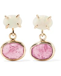 Melissa Joy Manning - 14-karat Gold, Opal And Sapphire Earrings - Lyst