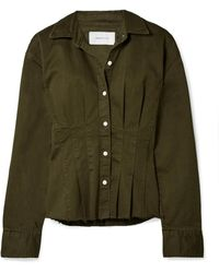 Current/Elliott - The Tella Pleated Cotton-blend Twill Jacket - Lyst