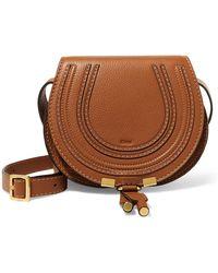 Chloé - The Marcie Mini Textured-leather Shoulder Bag - Lyst