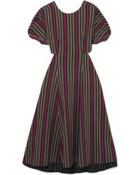 TOME - Open-back Striped Cotton-blend Midi Dress - Lyst