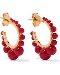 Aurelie Bidermann - Ana Gold-plated Resin Hoop Earrings - Lyst