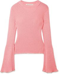Philosophy Di Lorenzo Serafini - Bead-embellished Ribbed-knit Jumper - Lyst