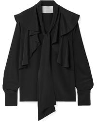 Jason Wu - Ruffled Silk Crepe De Chine Blouse - Lyst