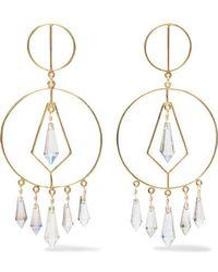 Mercedes Salazar Gold-tone Crystal Earrings