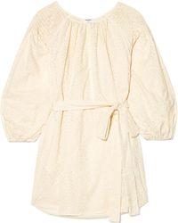 Marysia Swim - San Salvador Broderie Anglaise Cotton Mini Dress - Lyst