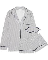 Eberjey - Sleep Chic Striped Jersey Pyjama Set - Lyst