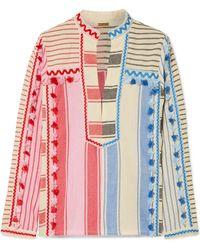 Dodo Bar Or - Embellished Striped Cotton-gauze Shirt - Lyst