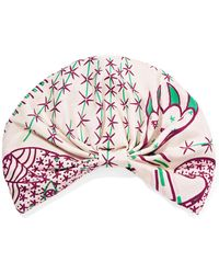 Valentino - Printed Silk-twill Turban - Lyst