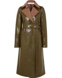 Victoria Beckham - Belted Coated Wool-blend Coat - Lyst