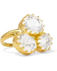 Pippa Small - 18-karat Gold Crystal Ring Gold M - Lyst