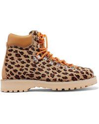 Diemme - Roccia Vet Leopard-print Calf Hair Ankle Boots - Lyst