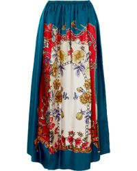Gucci - Silk Skirt With Boudoir Print - Lyst