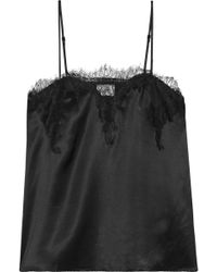 Cami NYC - Sweetheart Lace-trimmed Silk-charmeuse Camisole - Lyst