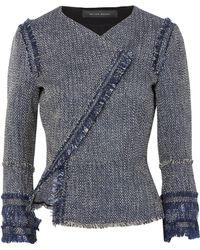Roland Mouret - Kirkham Cotton-blend Bouclé-tweed Jacket - Lyst