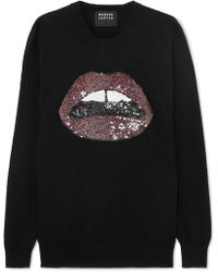 Markus Lupfer - Natalie Sequin Lara Lip Pullover Sweater - Lyst